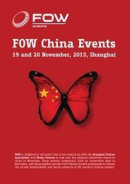 FOW China Events 19 and 20 November, 2013, Shanghai