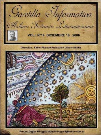 Vol I Nº14 - Archivos Forteanos Latinoamericano.