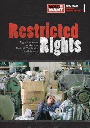 Migrant women workers in Thailand, Cambodia and ... - War on Want