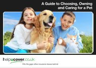 A Guide to Choosing, Owning and Caring for a Pet - Helpucover