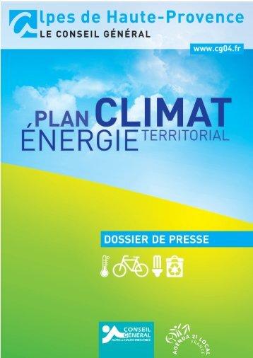 DP PCET - Conseil Général des Alpes de Haute Provence