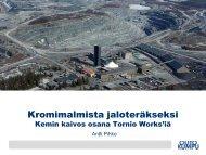 Kemin kromikaivos ja ferrokromitehdas (pdf) - TEM Toimialapalvelu