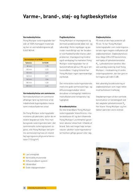 Udvendig facadeisolering - Ytong