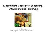 Mitgefühl im Kindesalter: Bedeutung, Entwicklung und ... - Papilio