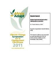 Day 1, Keynote Address: National and international ... - Africa Adapt