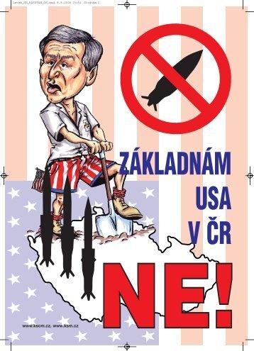 Plakát proti základnám