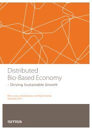 Distributed Bio-Based Economy – Driving Sustainable Growth - Sitra