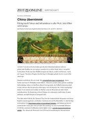 China übernimmt - Rijnland-weblog