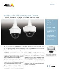 AXIS P5512/-E PTZ Dome Network Cameras - The SAFE System