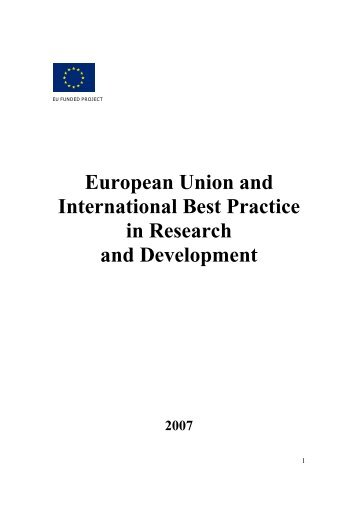 European Union and International Best Practice in Research and ...