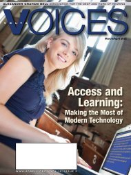 Access and Learning: - Alexander Graham Bell Association