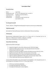 Curriculum Vitae August 2013 - Seminar für Mathematik und ihre ...