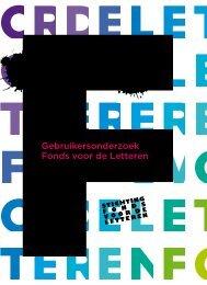 Gebruikersonderzoek-fvdl-2008 (Pdf file) - Nederlands Letterenfonds