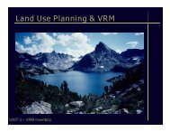 3. Land Use Planning - Inventory