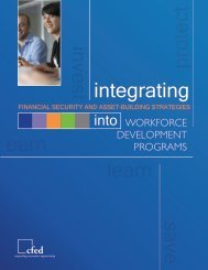 Integrating Financial Security and Asset-Building Strategies ... - CFED