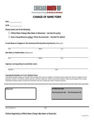 CHANGE OF NAME FORM - Chicago Booth Portal