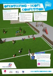 Orienteering competition card - School Games