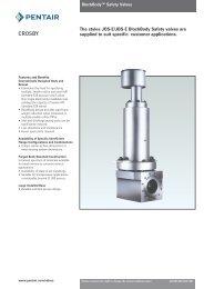 The styles JOS-E/JBS-E BlockBody Safety valves are ... - Askalon