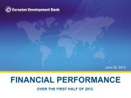 Financial Results for the first half of 2012