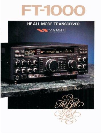 FT 1000 Brochure - VA3CR