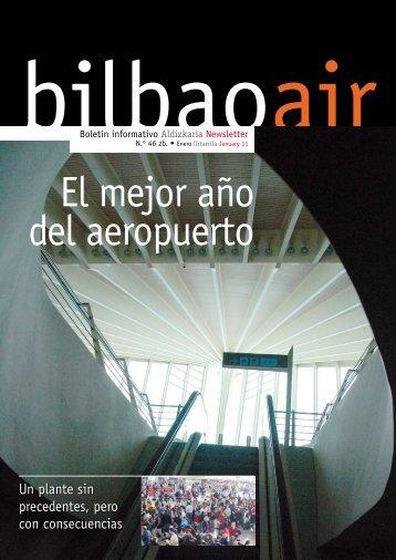 El mejor año del aeropuerto - Bilbao Air