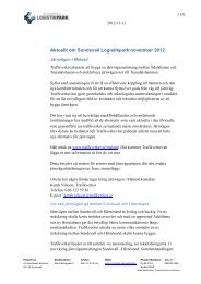 Aktuellt om Sundsvall Logistikpark november 2012