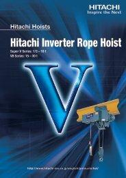 Hitachi Inverter Rope Hoist