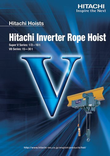 Hitachi Inverter Rope Hoist