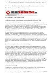 20091104 ILO finanznachrichten - International Safety and Health ...