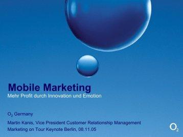 Entwicklung des Mediums Mobilfunk - Marketing on Tour