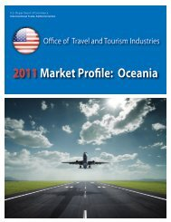 2011Market Profile: Oceania - Office of Travel and Tourism Industries