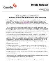 Candu Energy's Enhanced CANDU 6 Reactor - Organization of ...