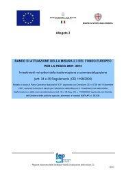 Investimenti nei settori della trasformazione e commercializzazione