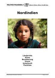 Reiseinformation Nordindien - Weltweitwandern