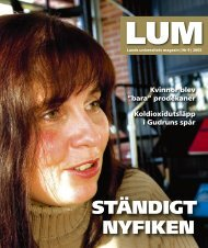LUM nr 9 - Humanekologi Lunds universitet