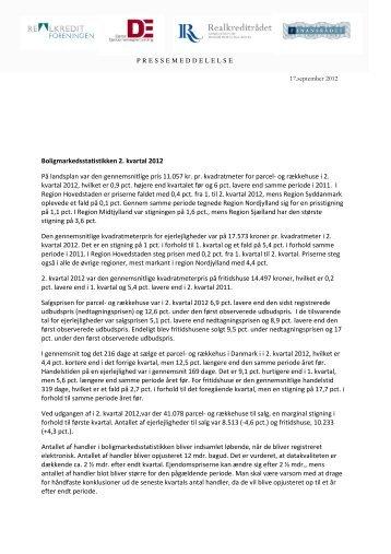 Boligmarkedsstatistikken 2. kvartal 2012 PÃ¥ landsplan var den ...