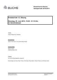 Protokoll der 12. Sitzung Dienstag, 25. Juni 2013 ... - Gemeinde Buchs