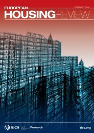RICS European Housing Review 2009 - International Union of ...