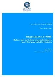 Négociations à l'OMC