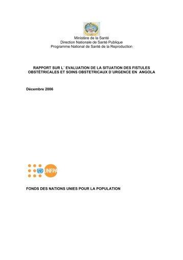rapport sur l´ evaluation de la situation des - Campaign to End Fistula