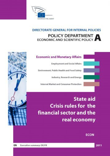 state aid crisis rules for the financial sector and the ... - Sven Giegold