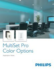 MultiSet Pro Color Options - Philips Lighting Controls