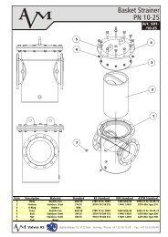 Art S01, Basket Strainer, DN 50-600, PN 10-16 - Avm.no