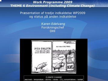 Forventet indhold af miljøprogrammet i FP 7, 3. ansøgningsrunde v ...