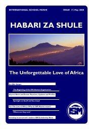 Habari za Shule - May 2008 - International School Moshi