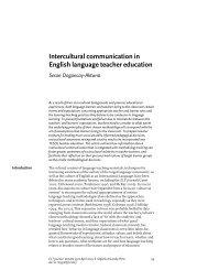 Intercultural communication in English language teacher education