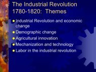 The Industrial Revolution 1780-1830