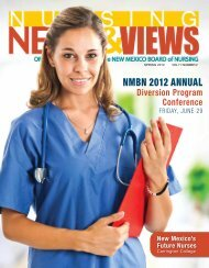Newsletter Spring 2012 - the New Mexico Board of Nursing