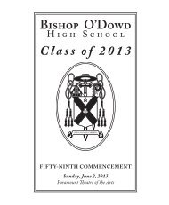 Cllick to download the 2013 graduation awards - Bishop O'Dowd ...