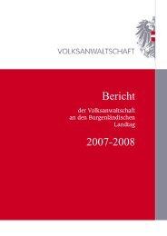 Burgenland Bericht 2007/2008 - Volksanwaltschaft